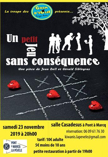 Théâtre 'Un petit jeu sans conséquence' - Ville de Pont-à-Marcq